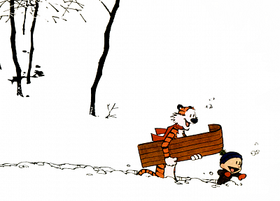 Calvin and Hobbes - random desktop wallpaper