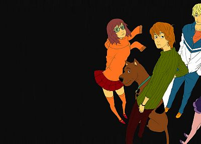 Scooby Doo, alternative art, animation, anime, simple background - random desktop wallpaper