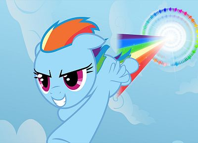 My Little Pony, ponies, Rainbow Dash, Sonic Rainboom, My Little Pony: Friendship is Magic - desktop wallpaper