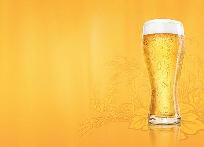 beers, abstract, yellow, Budweiser - random desktop wallpaper