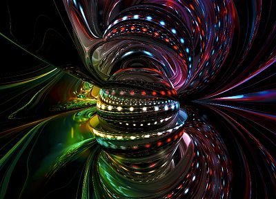 3D view, abstract - random desktop wallpaper