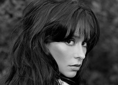 women, Jennifer Love Hewitt, grayscale, monochrome - desktop wallpaper