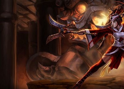 video games, League of Legends, fantasy art, girls with guns, artwork, Akali - related desktop wallpaper