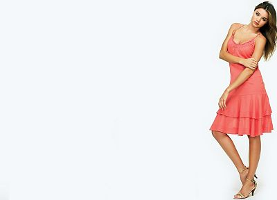 women, Miranda Kerr, models, high heels, pink dress - related desktop wallpaper
