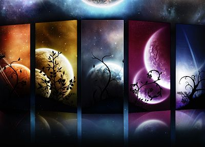 abstract, outer space, stars, planets - related desktop wallpaper