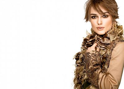women, Keira Knightley, simple background - desktop wallpaper