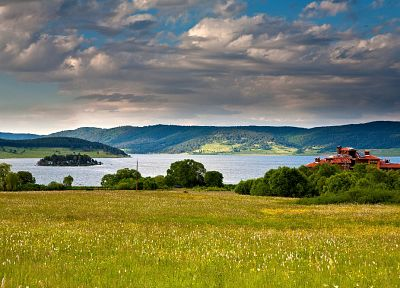 landscapes, nature, lakes, Bulgaria, Batak Dam - desktop wallpaper