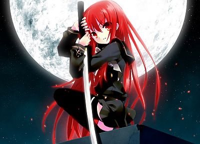 Shakugan no Shana, katana, school uniforms, anime, anime girls - related desktop wallpaper