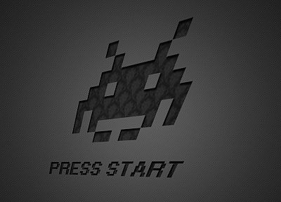 video games, minimalistic, vintage, patterns, Space Invaders - desktop wallpaper