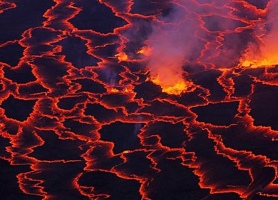volcanoes, lava, Africa, National Park, magma, Congo - related desktop wallpaper