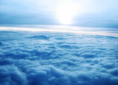 clouds, Sun, horizon, atmosphere, skyscapes - random desktop wallpaper