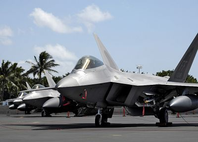 aircraft, military, raptor, F-22 Raptor - related desktop wallpaper