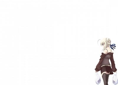blondes, Fate/Stay Night, Saber, simple background, anime girls, Fate series - related desktop wallpaper