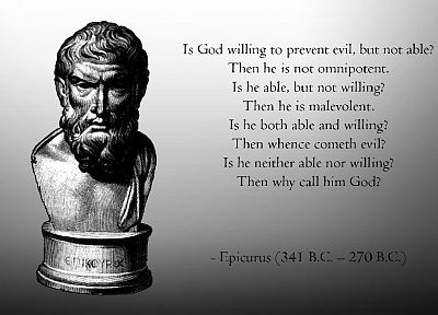quotes, Epicurus, atheism - random desktop wallpaper