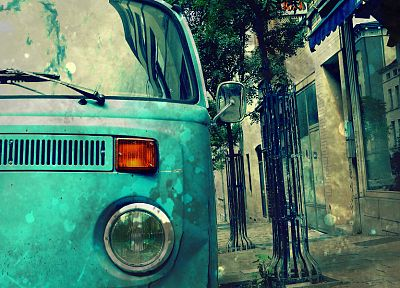 vintage, cars, vehicles, Volkswagen, Volkswagen Transporter - desktop wallpaper