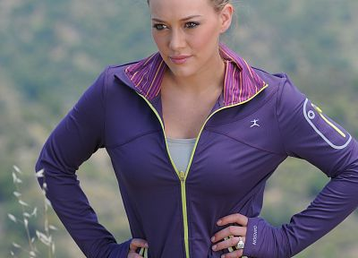 women, Hilary Duff, Danskin clothing - random desktop wallpaper