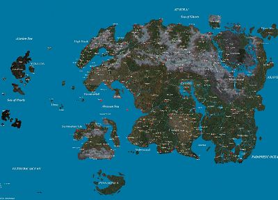 video games, maps, The Elder Scrolls, The Elder Scrolls IV: Oblivion - related desktop wallpaper