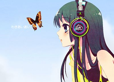 headphones, anime girls - random desktop wallpaper