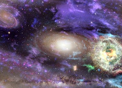 outer space, galaxies - random desktop wallpaper
