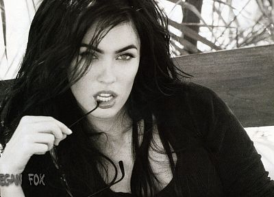brunettes, women, Megan Fox, actress, celebrity - random desktop wallpaper