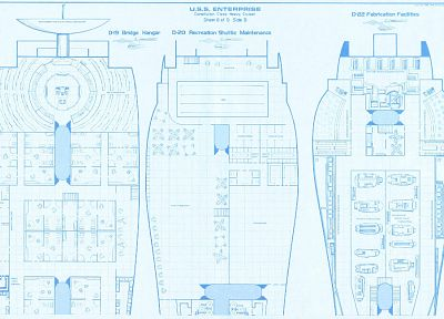 Star Trek, blueprints, spaceships, vehicles, USS Enterprise, Star Trek schematics - related desktop wallpaper