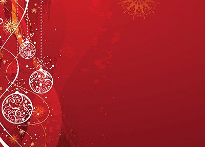 red, Christmas, holidays, ornaments - desktop wallpaper