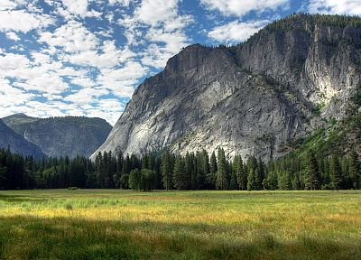 mountains, landscapes, trees, Yosemite National Park - desktop wallpaper