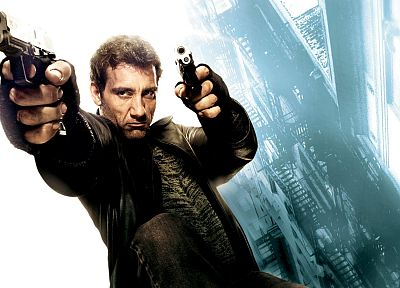 guns, streets, movies, men, actors, Clive Owen, Shoot 'Em Up - random desktop wallpaper