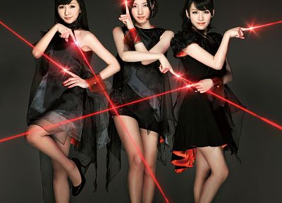 women, Asians, jpop, Perfume (band), lasers - desktop wallpaper
