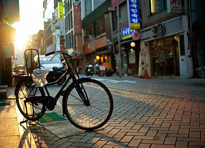 cityscapes, bicycles, buildings, Korea, south, Asia, cities - desktop wallpaper