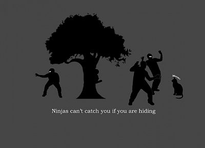 trees, cats, ninjas cant catch you if - related desktop wallpaper