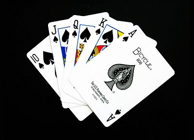 cards, spade, black background - random desktop wallpaper