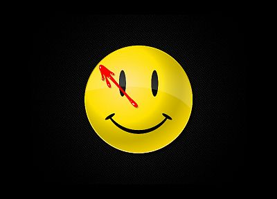 Watchmen, smiley - random desktop wallpaper