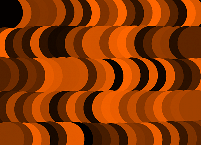 abstract, orange, illusions - random desktop wallpaper