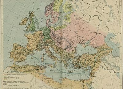 Europe, maps, ancient - related desktop wallpaper