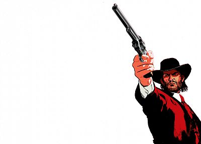 Red Dead Redemption, white background - random desktop wallpaper