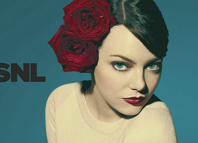 women, Emma Stone, SNL - random desktop wallpaper