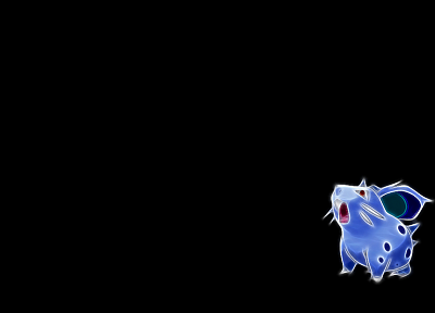 Pokemon, Fractalius, black background, Nidoran - desktop wallpaper