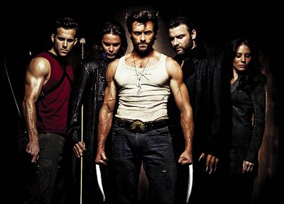 X-Men, Wolverine, Gambit, Hugh Jackman, Ryan Reynolds, X-Men: Origins, Taylor Kitsch - random desktop wallpaper