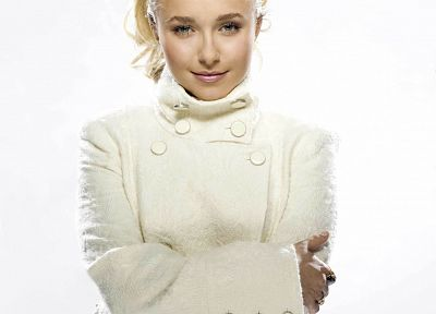 blondes, women, actress, Hayden Panettiere, celebrity, white background - related desktop wallpaper