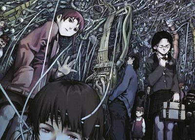 Serial Experiments Lain, technology, Iwakura Lain, anime - random desktop wallpaper