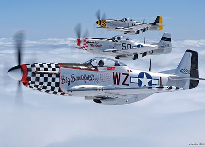 aircraft, military, airplanes, P-51 Mustang - desktop wallpaper