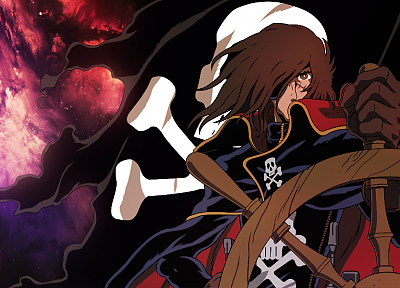 Captain Harlock, anime - random desktop wallpaper