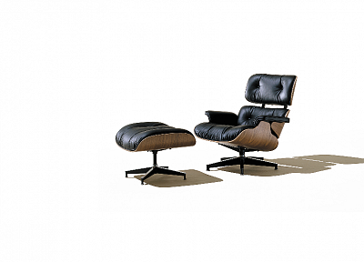 furniture, chairs, white background, Eames Lounge - random desktop wallpaper