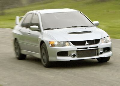 cars, Mitsubishi, lancer, vehicles, silver cars - desktop wallpaper