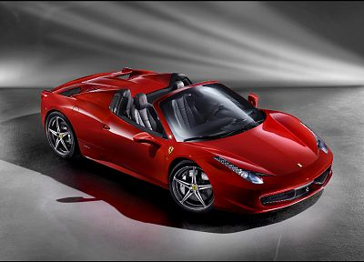 cars, studio, Ferrari, front, vehicles, Ferrari 458 Italia, Ferrari 458 Spider - related desktop wallpaper