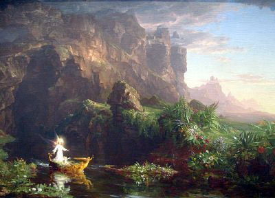 paintings, childhood, Thomas Cole, The Voyage of Life - random desktop wallpaper