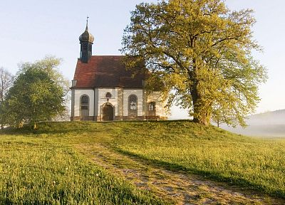 Germany, Bavaria, The Hill, chapel - random desktop wallpaper