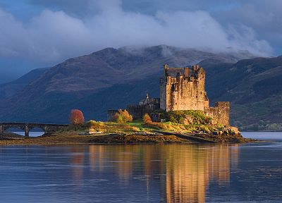 mountains, castles, Scotland, lakes, Eilean Donan Castle - related desktop wallpaper
