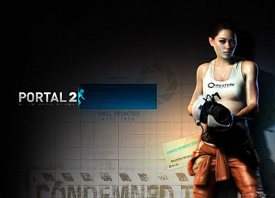 video games, Chell, Portal 2 - related desktop wallpaper